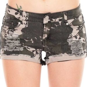 Junior Fit Shorts - Camouflage Dual Tone Shorts